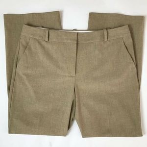 Talbots Dress Pants Khaki Belt Loop Zipper Sz 14P